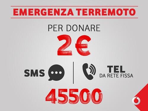 SMS solidale emergenza terremoto