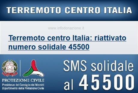 donazione terremoto centro italia Protezione Civile