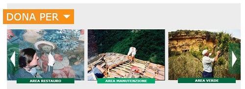 FAI dona per restauro, manutenzione, verde
