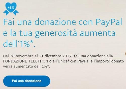 telethon e Unicef con paypal