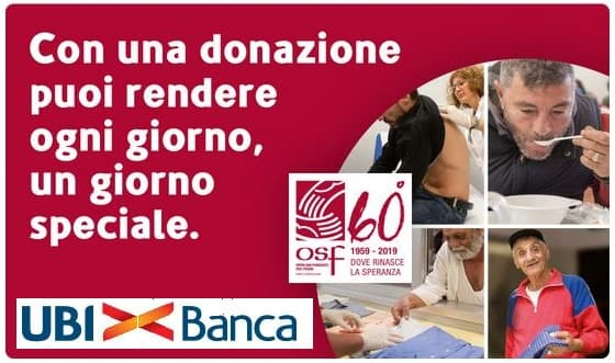 Con UBI aiuti Opera San Francesco